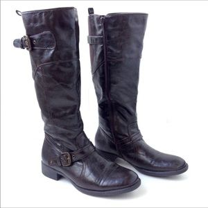 Kim Rogers Reagan vegan leather tall brown boots
